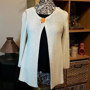 One Girl who...silk/linen blend Cardigan